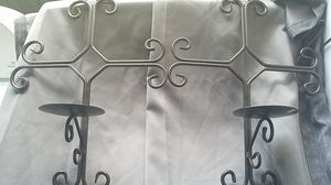 Nice decorative cross wall/fence mount candle holders for Sale in Spring, TX