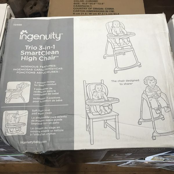 Ingenuity 3-in-1 High Chair / Booster Seat