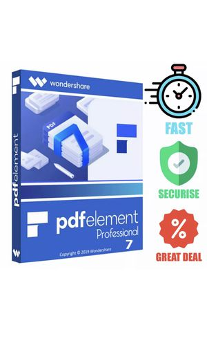 wondershare pdfelement professional 7   Portable version   instant delivery 🔔 for Sale in Beverly Hills, CA