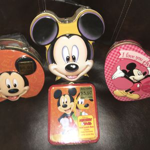 Disney Mickey Mouse Metal Tins for Sale in Henderson, NV