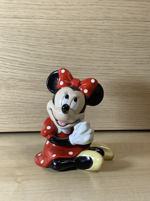 Disney Minnie Mouse Ceramic Figurine - Sitting Position, Red & White Dress China for Sale in Los Angeles, CA