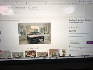 Kitchen island light for Sale in Chicago, IL