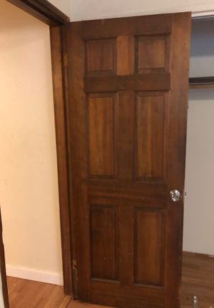 Six panel solid wood doors prehung used for Sale in Puyallup, WA