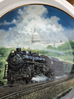 The Hamilton Collection Train Plates - Danbury Mint -The Capitol Limited - for Sale in Walnut,  CA