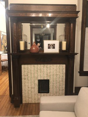 Vintage fireplace mantel with original mirror for Sale in Washington, DC