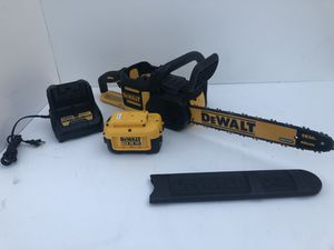 DEWALT 16 in. 40-Volt MAX Lithium-Ion Cordless Brushless Chainsaw w/ (1) 4.0 Ah Battery Pack and Charger for Sale in Bakersfield, CA