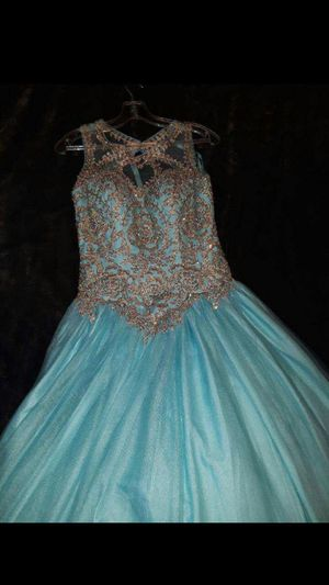 Tiffany Blue Prom, Sweet 16 or Quinceanera dress make offer for Sale in Pomona, CA