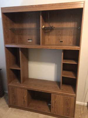 WOODEN ENTERTAINMENT CENTER for Sale in Florissant, MO