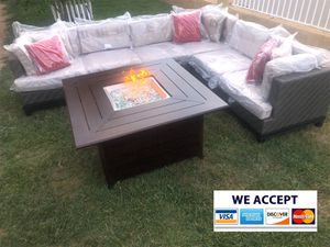 Patio furniture set with fire pit for Sale in Riverside, CA