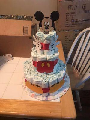 3 tier Mickey diaper cake for Sale in Murfreesboro, TN