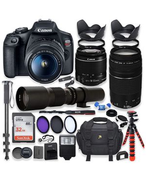 Canon EOS rebel t7 dslr camera bundle barely used! for Sale in Indianapolis, IN