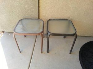 Two Glass Table For Flower Pots for Sale in Fontana, CA