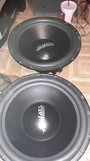 "MMats 15 "" pro audio dual voice coil 4 omh 700w rms procast for Sale in San Antonio, TX"