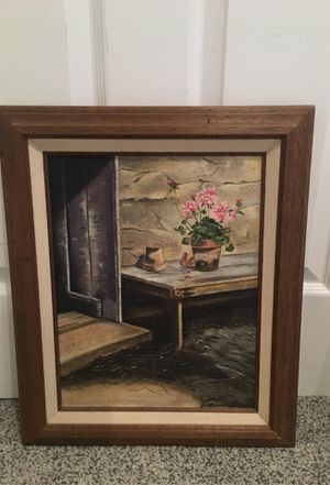 Vintage Painting Framed Gardening for Sale in Henderson, NV