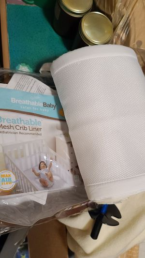 Breathable mesh crib liner for Sale in Los Angeles, CA