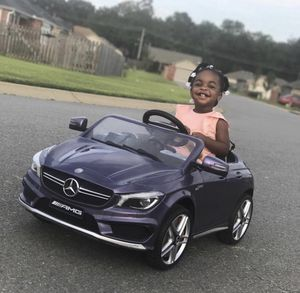 Kids Car ride on car baby toy Mercedes CLA 12V battery, leather seat for Sale in Brooklyn, NY