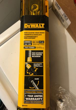 NEW Dewalt 3/8 drive micro adjusting torque wrench for Sale in Lansdale, PA