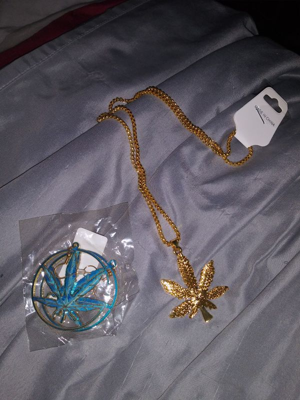 420 necklace and earrings