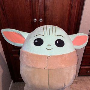 "Squishmallow The Child Baby Yoda 20"" Plush Pillow Mandalorian Disney for Sale in Sacramento, CA"