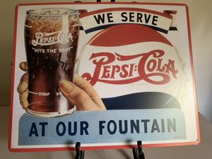 We Sell Pepsi-Cola at our Fountain Tin Sign for Sale in Lakeland, FL
