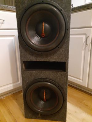 Q Power 12-inch subs in box for Sale in Charlotte, NC