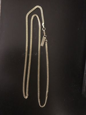 5d4386c6552 30 inch 2mm 18k gold plated Cuban link chain for Sale in Chesapeake