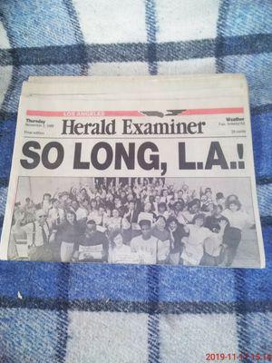 Herald Examiners last paper printed. for Sale in Pico Rivera, CA