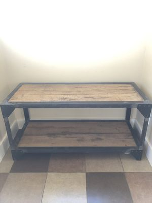Rustic wood and iron console/coffee/entry table for Sale in Denver, CO