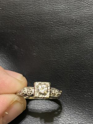 14k white gold engagement and wedding ring for Sale in Columbus, OH