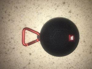 JBL Clip 2 Waterproof Portable Bluetooth Speaker (Black) for Sale in Williamsburg, MI