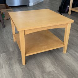 Tan Wood Side Table for Sale in Oakland,  CA