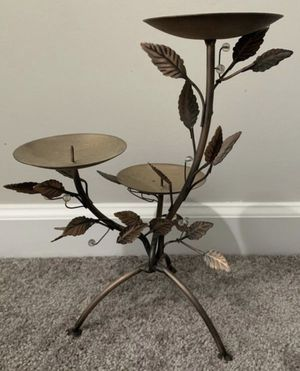 3 TIERS TABLETOP METAL CANDLE HOLDER SCONCE HOME DECORATION ACCENT for Sale in Chapel Hill, NC