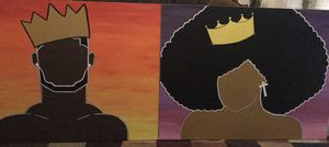 King and Queen Canvas for Sale in Pawtucket, RI