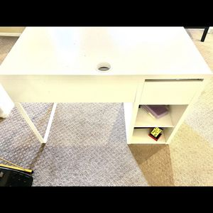 White IKEA Desk With Storage- Gone Today!! for Sale in Phoenix, AZ