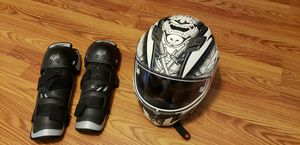 Motorcycle helmet and knee protectors for Sale in Silver Spring, MD