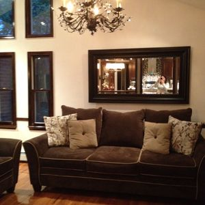 Sofa and love seat w/ accent pillows for Sale in Walpole, MA