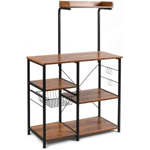 4-tier Kitchen Baker's Rack with Basket and 5 Hooks for Sale in Los Angeles, CA