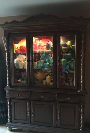 Beautiful Hutch, lots of room for display and storage, built in lights for Sale in Kent Cliffs, NY