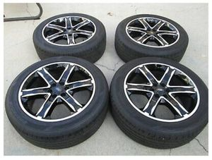 """22"""" FORD F150 FACTORY WHEELS RIMS TIRES NEW TAKE OFFS EXPEDITION BLACK for Sale in Laguna Niguel, CA"""