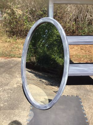 Oval, Wooden Hanging Mirror for Sale in Newnan, GA