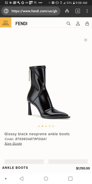 Fendi $1200 orignal price glossy black neoprene boots name your price message me your offer for Sale in San Francisco, CA
