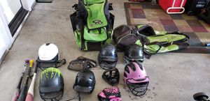 Softball gloves, bats, helmets and bags for Sale in Victorville, CA