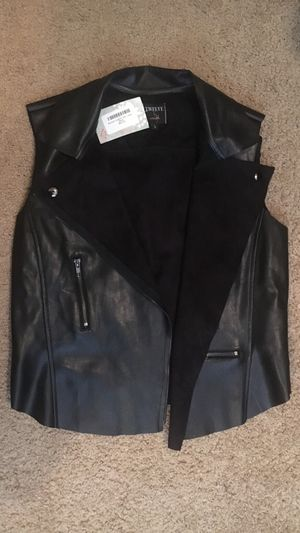 Never Worn Leather Vest, Suede Inside for Sale in Houston, TX