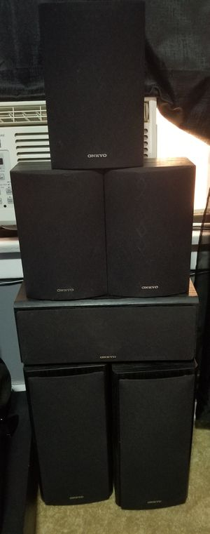 Onkyo surround sound speakers for home stereo system for Sale in Long Beach, CA