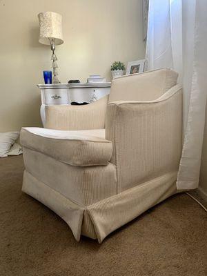 Vintage White Little Corduroy Chair for Sale in Tempe, AZ