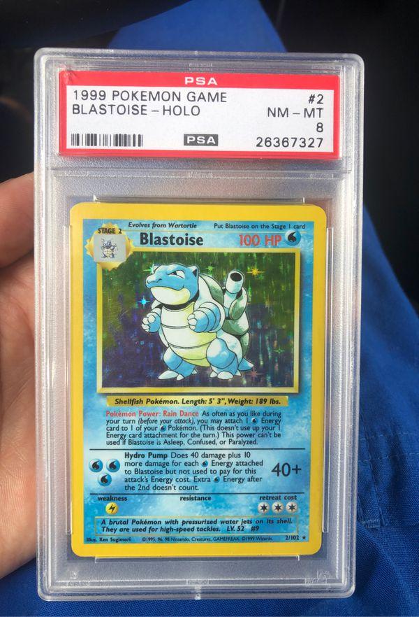 Blastoise PSA8 holo Pokémon card