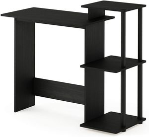 Home Laptop Notebook Computer Desk, Square Side Shelves, Americano/Black for Sale in Beaumont, CA