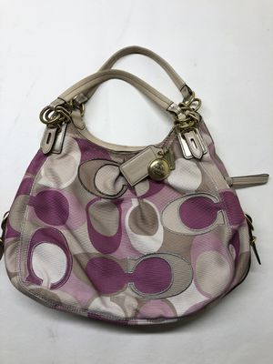 Coach Beige Gold & Lavender Hobo Bag Nice Authentic for Sale in Collinsville, IL