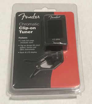 FENDER CHROMATIC CLIP ON TUNER FT-004 GUITAR TUNER. BRAND NEW FACTORY SEALED, fender, Squier, bass, acoustic, electric, amp, effects for Sale in Pomona, CA