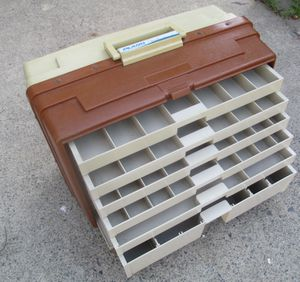 "Vintage Large Fishing Tacklebox PLANO 777 With 6 Drawers 18""X 13"" Nice for Sale in Lake Elsinore, CA"